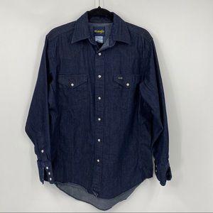 Wrangler | cowgirl denim button shirt
